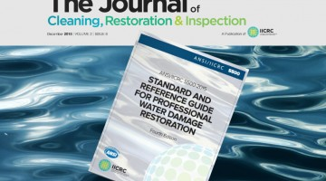 iicrc journal of cleaning, restoration & inspection december 2015