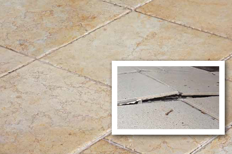 Addressing The Phenomenon Of Tented Water Damaged Tile Cleanfax