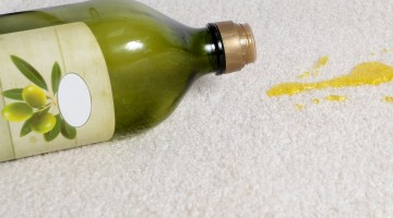 oil spill on carpet that has been protected oleophilic fibers stain removal how to