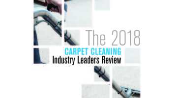 2018 Carpet Cleaning Industry Leaders Review banner