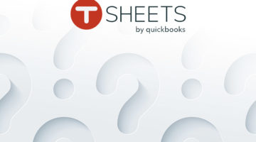 tsheets survey with logo over question marks