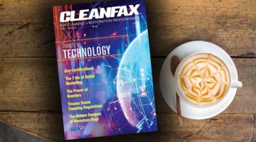 april 2018 cleanfax issue on coffee table next to espresso