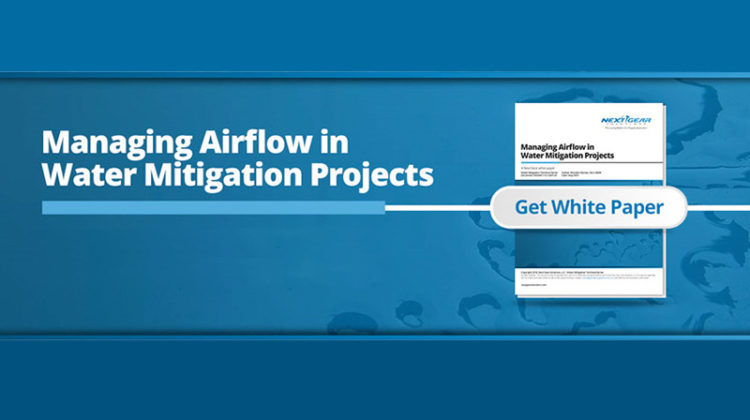 next gear solutions managing airflow in water mitigation projects whitepaper banner image