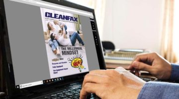 cleanfax september 2018 digital issue release on computer screen